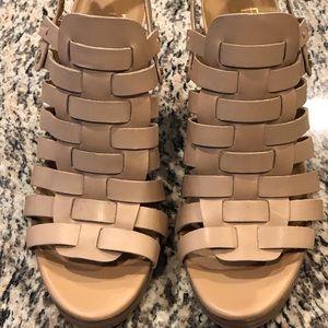 Franco Sarto platform leather heels